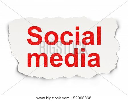 Social media concept: Social Media on Paper background