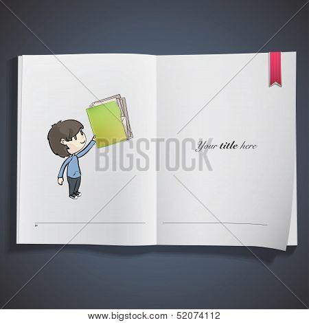 Kid Holding Green Folder