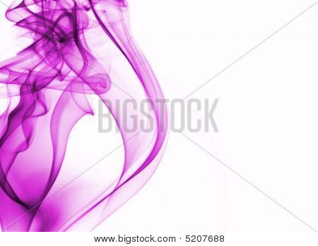 Pink Smoke Background With Place For Text