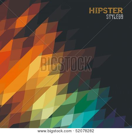 Sophisticated abstract grunge background for your hipster cover projects.