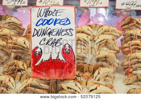 Dungeness Crab In Market