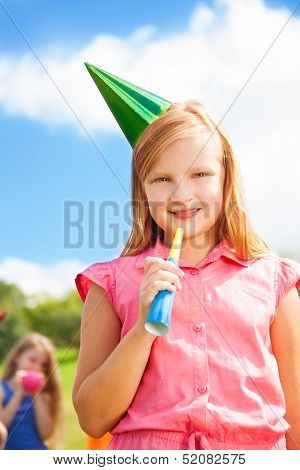Girl And Birthday Portrait