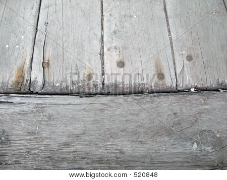 Old Worn Wooden Planks