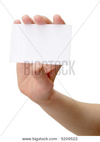 Hand With The Card
