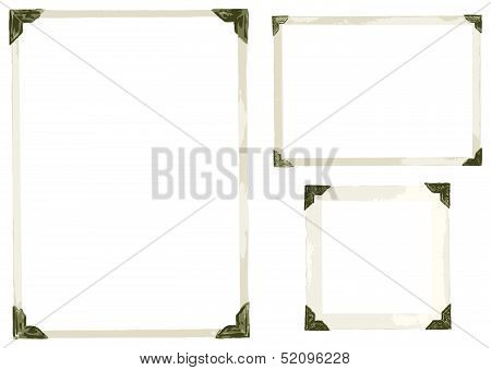 Old Photo Corners Vector