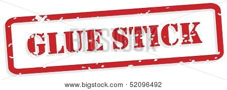 Glue Stick Rubber Stamp Vector