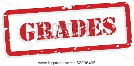 Grades Rubber Stamp Vector