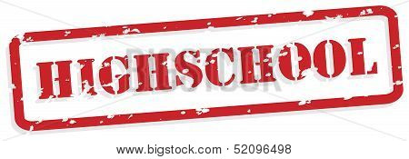 High School Rubber Stamp Vector