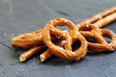 picture of alsatian  - Sticks and pretzels biscuits from the Alsatian tradition - JPG