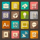 pic of antenna  - Flat icons set for Web and Mobile Applications - JPG