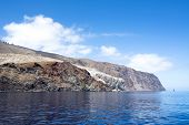 foto of guadalupe  - Rugged Guadalupe Island in Mexico where divers go to see great white sharks - JPG