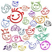 stock photo of cartoon people  - smile this illustration may be useful as designer work - JPG