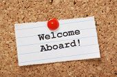 stock photo of salute  - The phrase Welcome Aboard - JPG