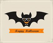 stock photo of dracula  - Happy Hipster Halloween - JPG