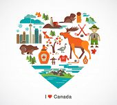 stock photo of glass heart  - Canada love  - JPG