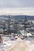 picture of murmansk  - Winter view of in  Murmansk city - JPG