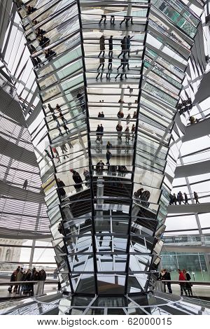Glass Dome On The Top Of Reichstag (bundestag) Building