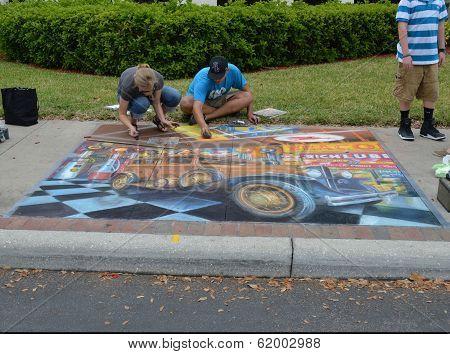 Car Art In Chalk