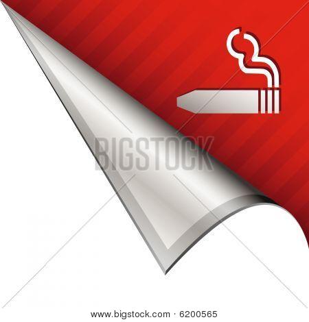 Cigar smoking corner icon