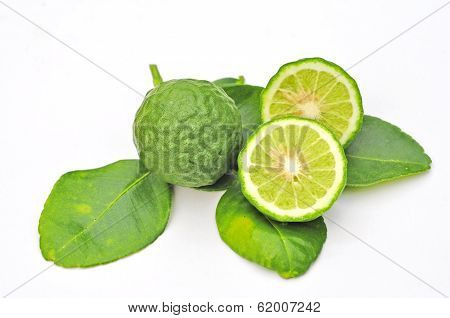 Three Leech Lime Fruits Isolated