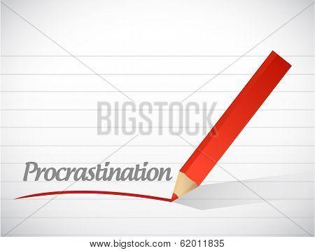Procrastination Message Illustration Design