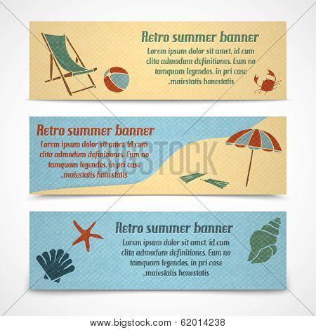 Summer vacation banners horizontal