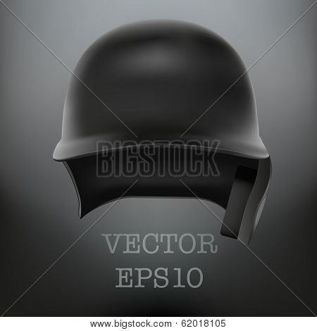 Baseball helmet front view vector. isolated