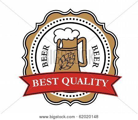 Retro brewery label