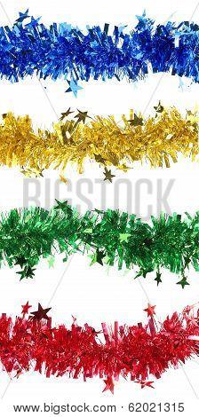 Christmas tinsel collage.