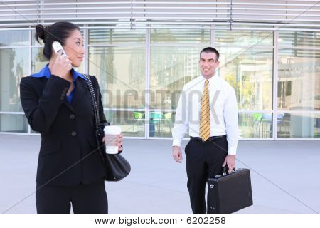 Business Woman Waiting For Partner