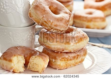 Stack Of Donuts And Cups