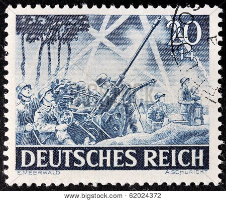 German Anti-aircraft Gun Stamp