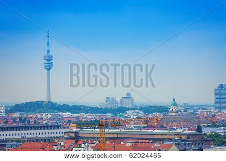 The Olympic Tower in Munich, Bavaria, Germany