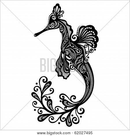 Vector Sea Dragon. Patterned design