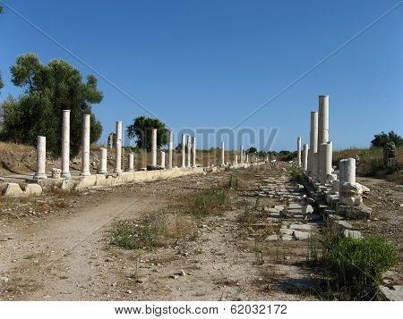 Street With Columns In Side