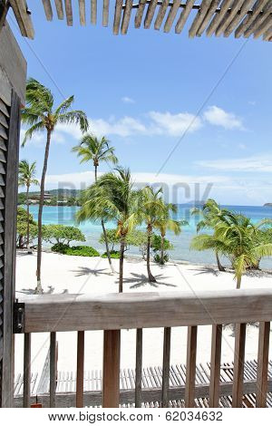 Tropical Beach, View From Deck