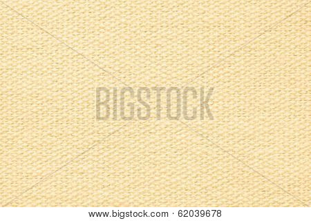 Pale Yellow Coarse-grained Texture Of Rough Fabric