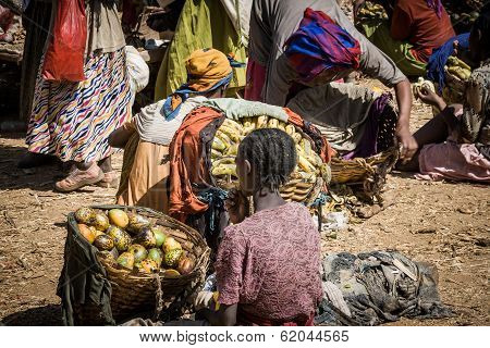 Traditional Market Of Dorze, Ethiopia, Africa