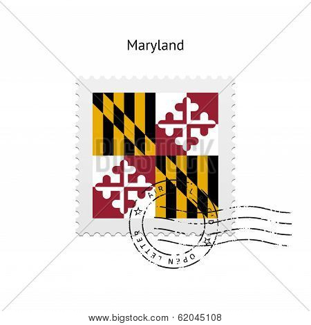 State of Maryland flag postage stamp.