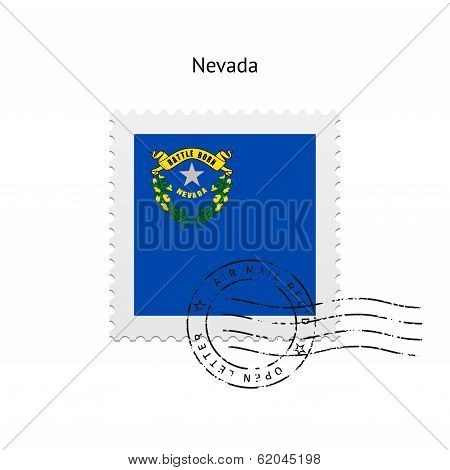State of Nevada flag postage stamp.
