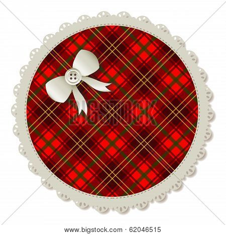 Round Plaid Patch