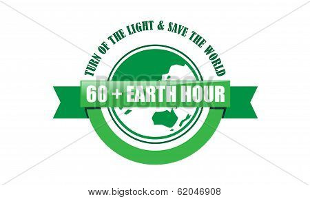 Earth Hour Green Shape Design