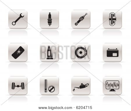 Simple Car Parts and Services icons