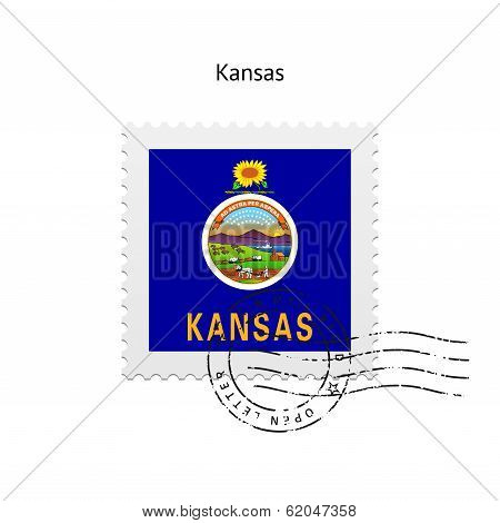 State of Kansas flag postage stamp.