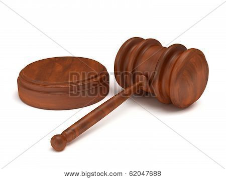 Wooden gavel. Judge Law Auction concept.