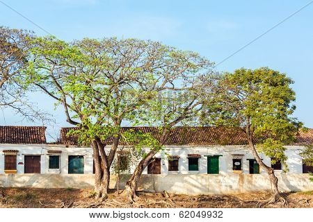 Damaged Colonial Buildings