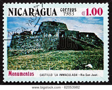 Postage Stamp Nicaragua 1983 La Immaculata Castle, Rio San Juan