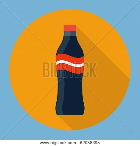 Soda bottle flat icon