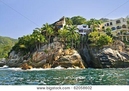 Villas on Pacific coast of Mexico near Puerto Vallarta