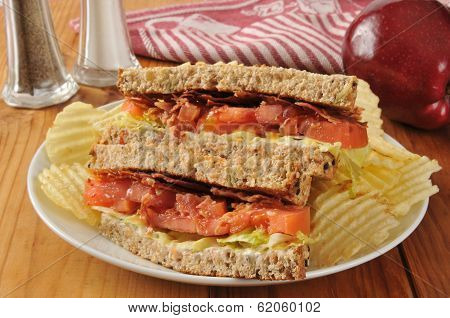 Blt Sandwich On Whole Wheat Bread